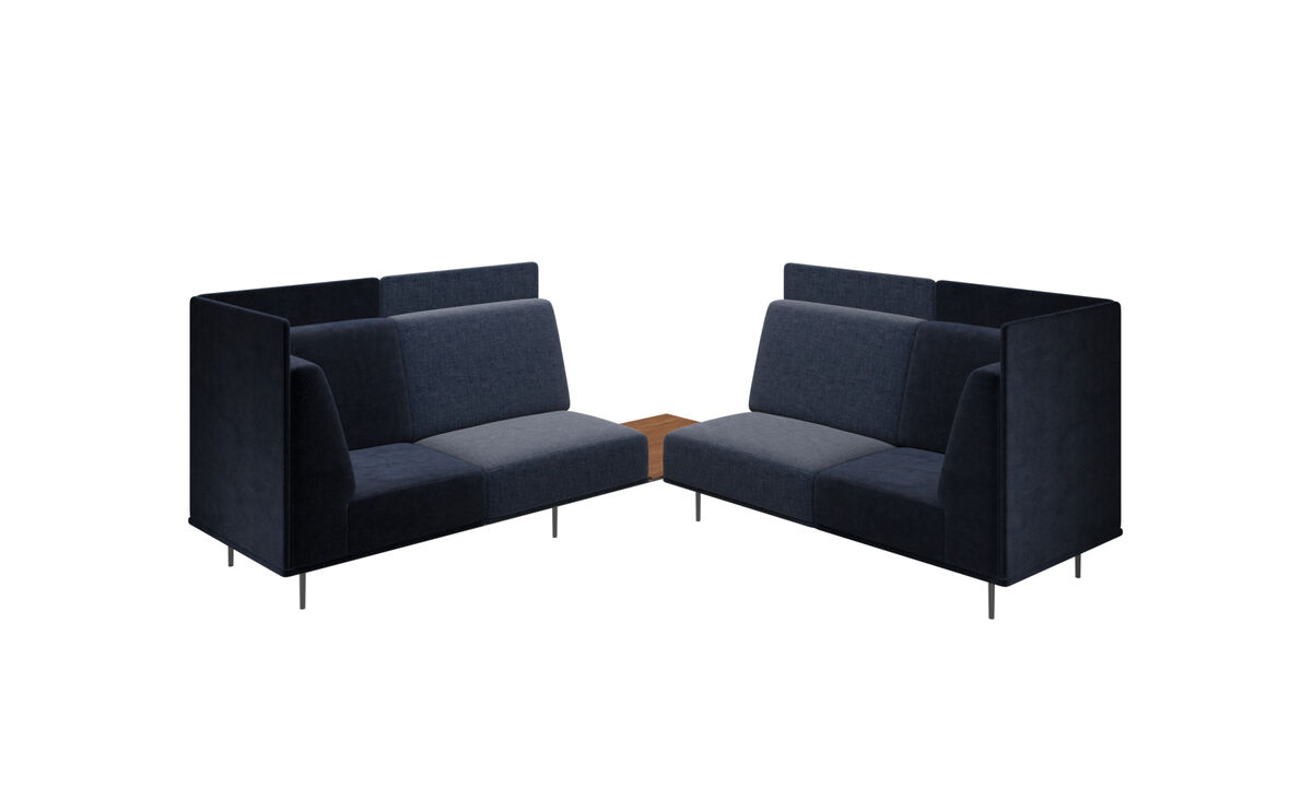 Canapés modulaires - canapé Toulouse - Bleu - Tissu