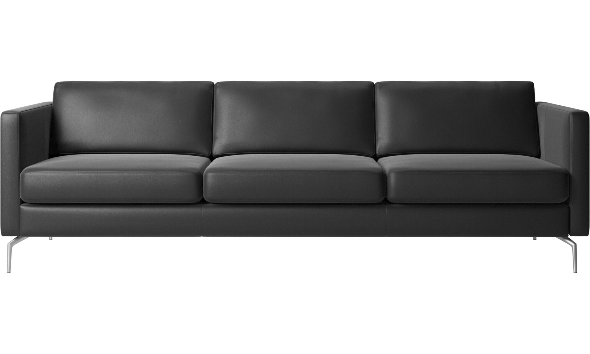 3 Seater Sofas   Osaka Sofa, Regular Seat   Black   Leather