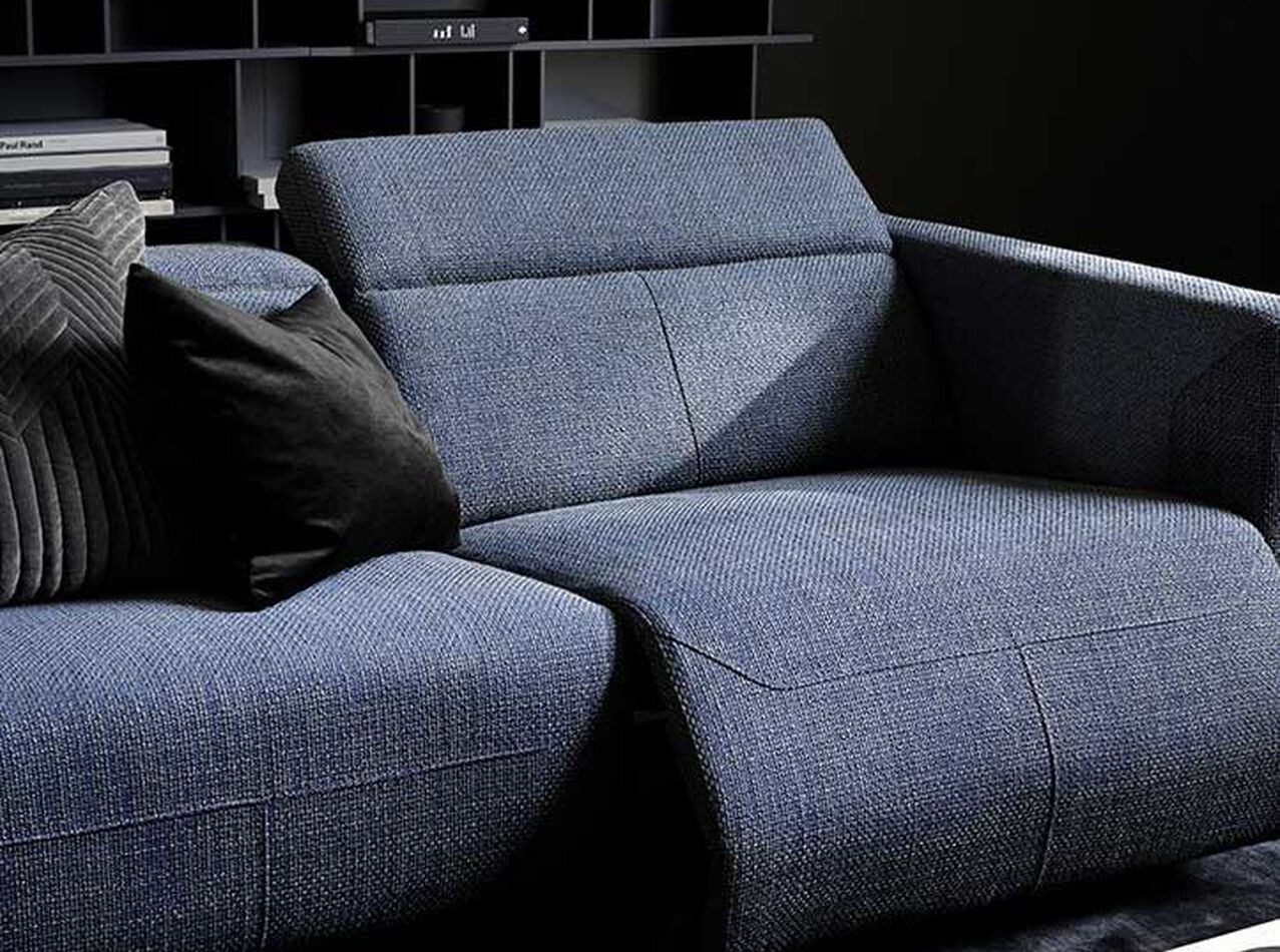 Recliner sofas - Parma reclining sofa with chaise lounge