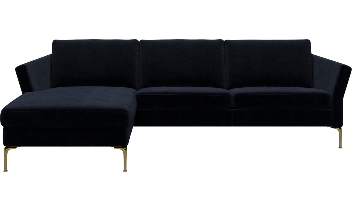 Chaise lounge sofas - Marseille sofa with resting unit - Blue - Fabric