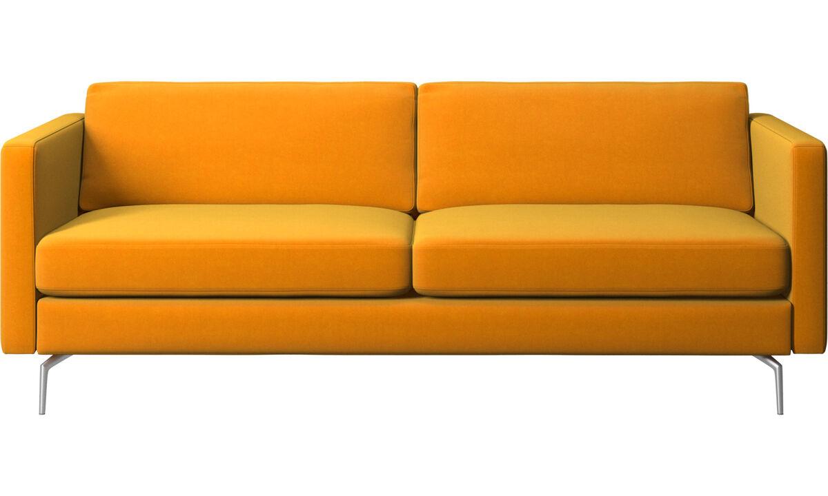 sofá Osaka, asiento regular - Naranja - Tela