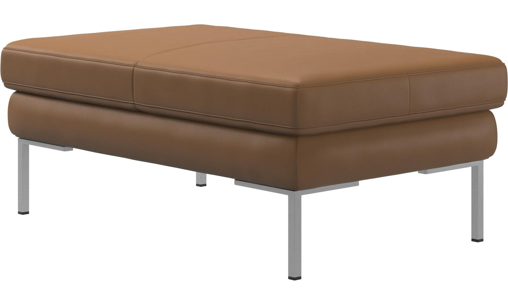 ... New Designs   Istra 2 Ottoman   Brown   Leather ...