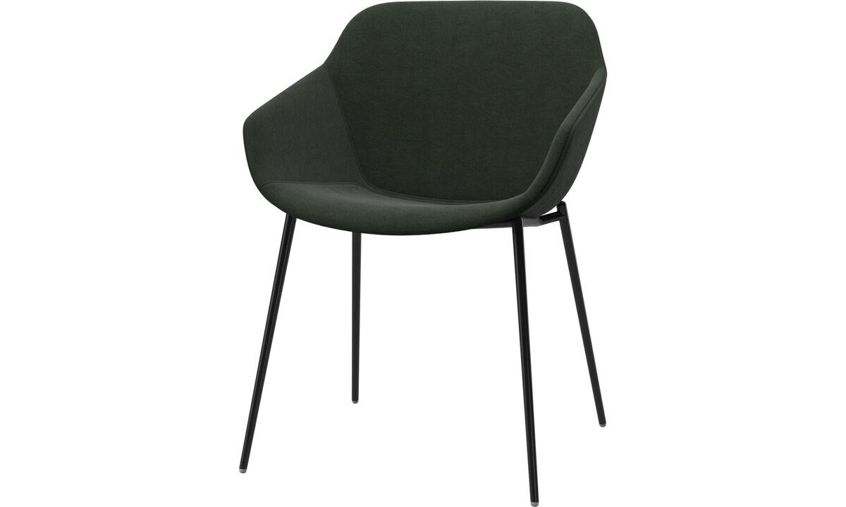 Cadeiras de jantar - Cadeira Vienna - Verde - Tecido