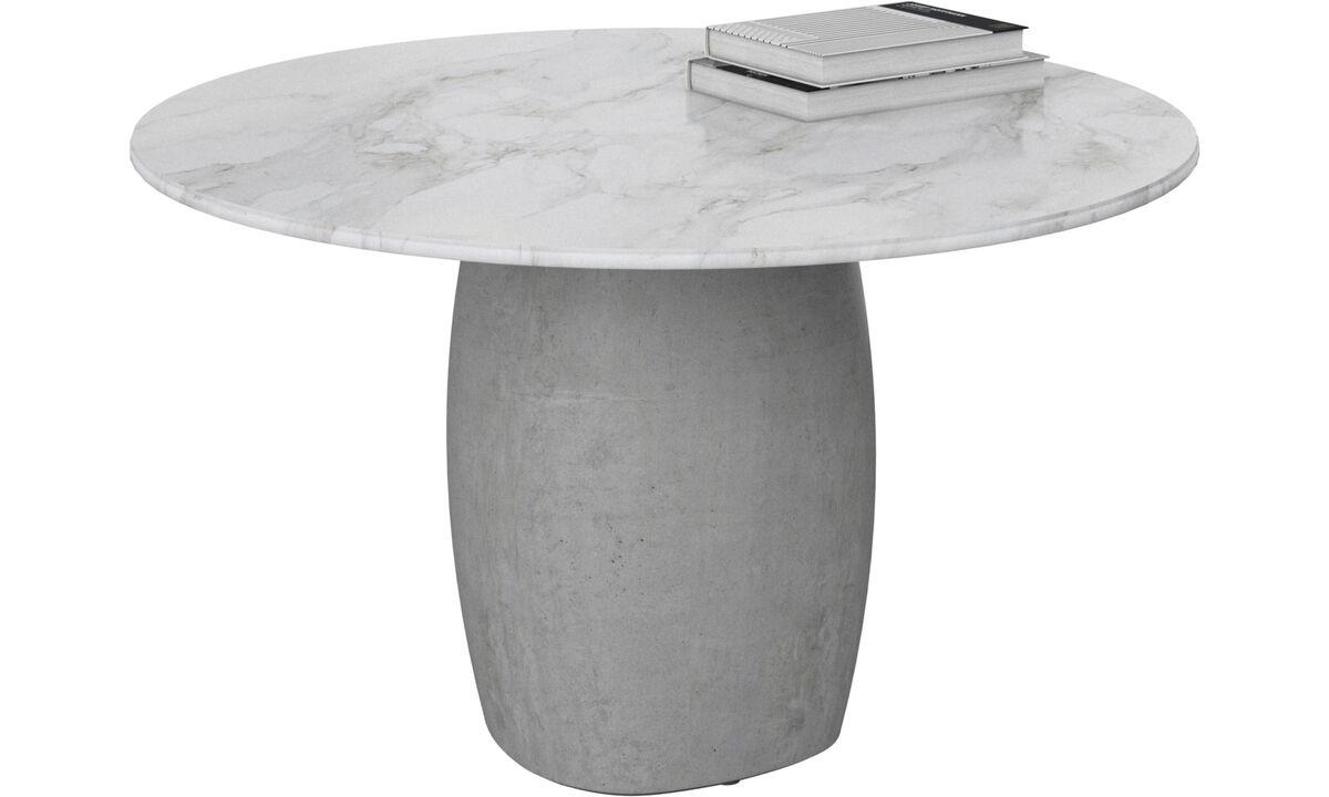 Mesas de centro - mesa de centro Bilbao - redondo - Blanco - Cerámica