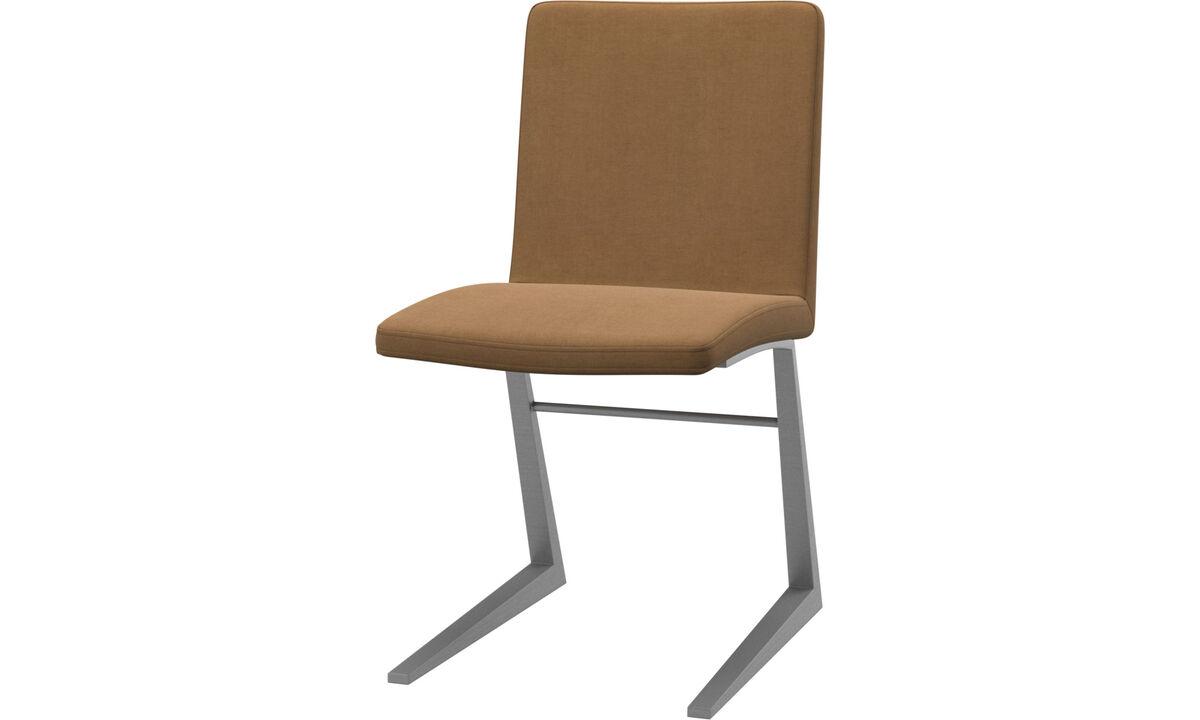Sillas de comedor - silla Mariposa Deluxe - En marrón - Tela