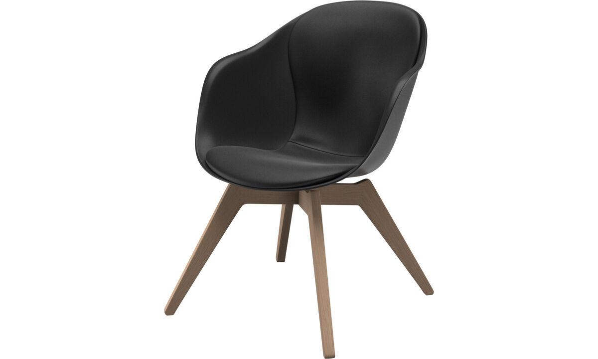 Sillones - Silla Adelaide lounge - En negro - Piel