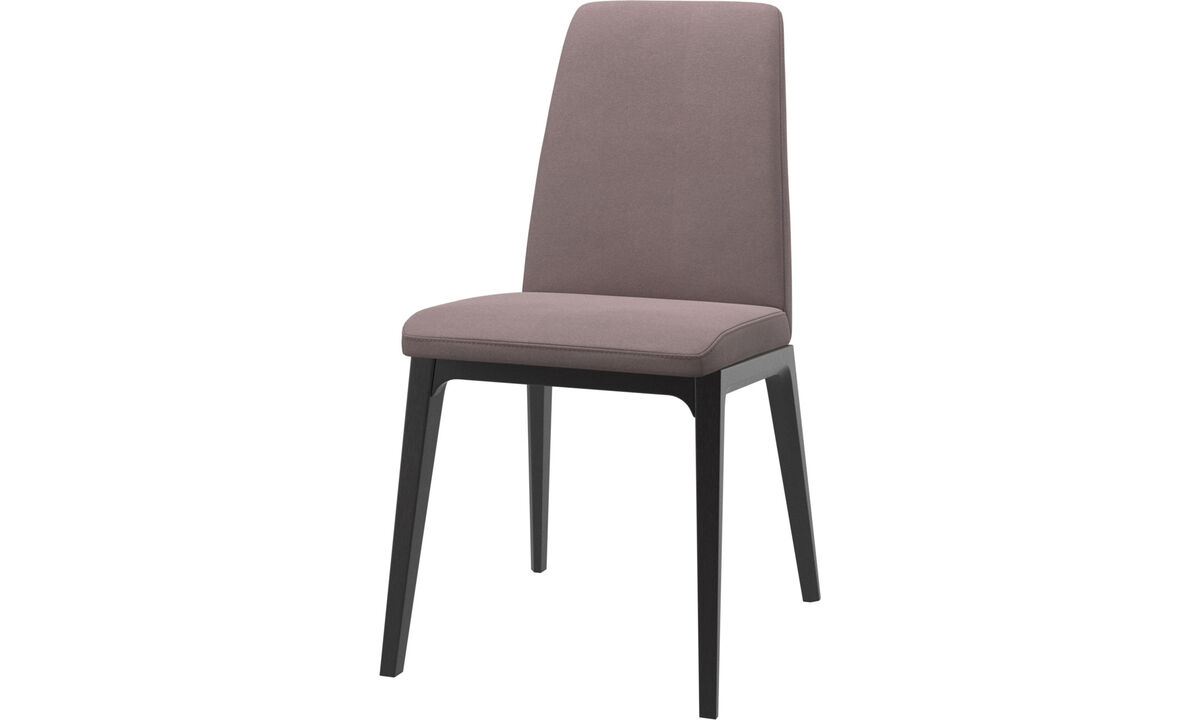 Dining chairs - Lausanne chair - Purple - Fabric