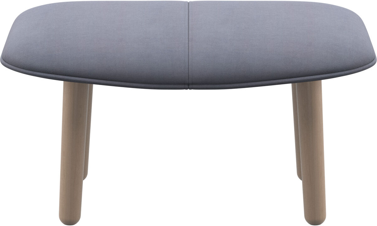 Footstools - fusion footstool - Blue - Fabric