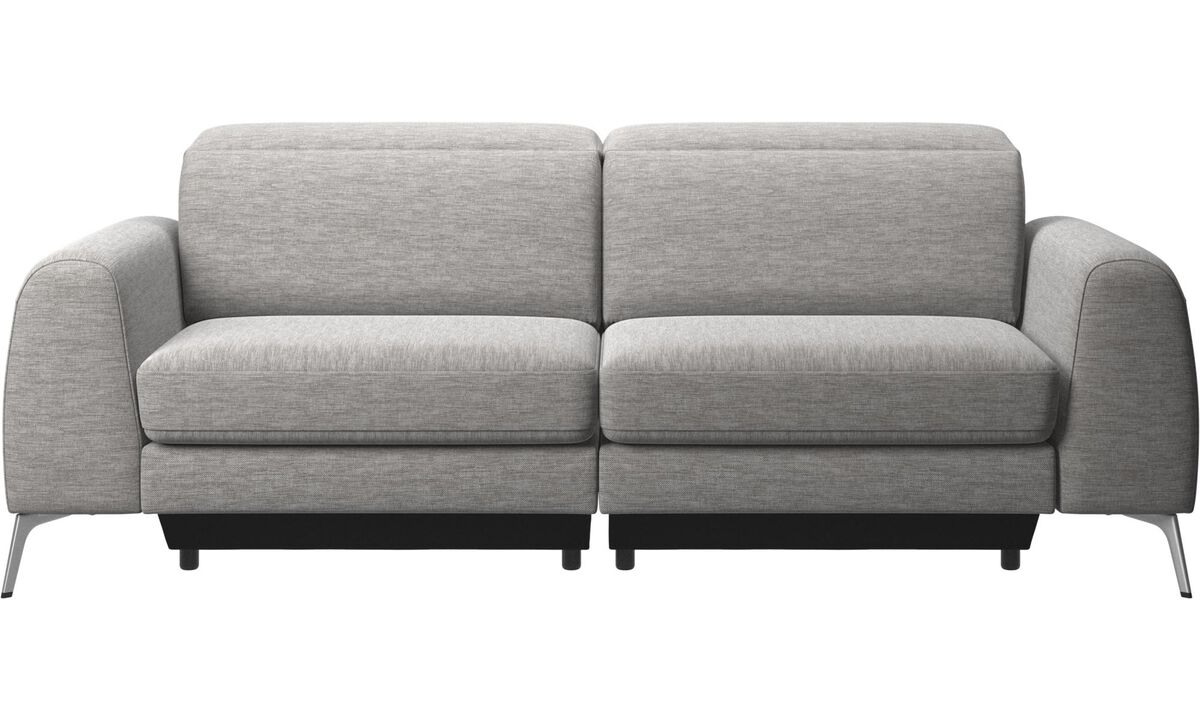 3 seater sofas - Madison sofa with adjustable headrest - Grey - Fabric