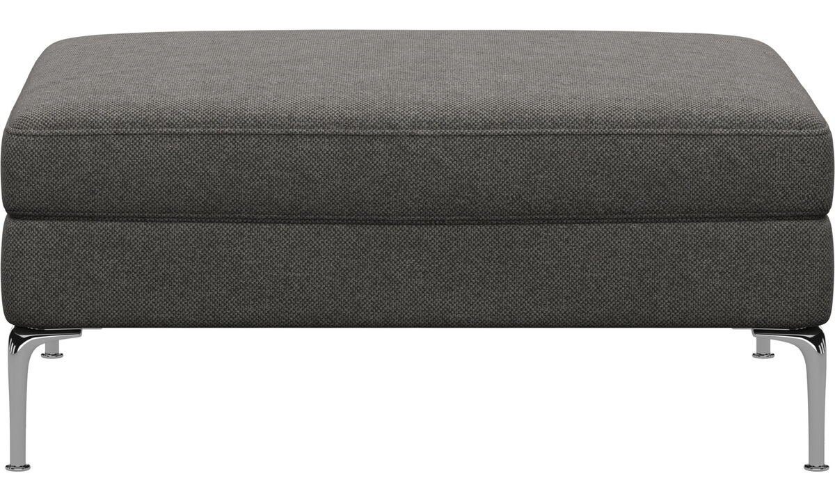 Ottomans - Marseille ottoman - Gray - Fabric