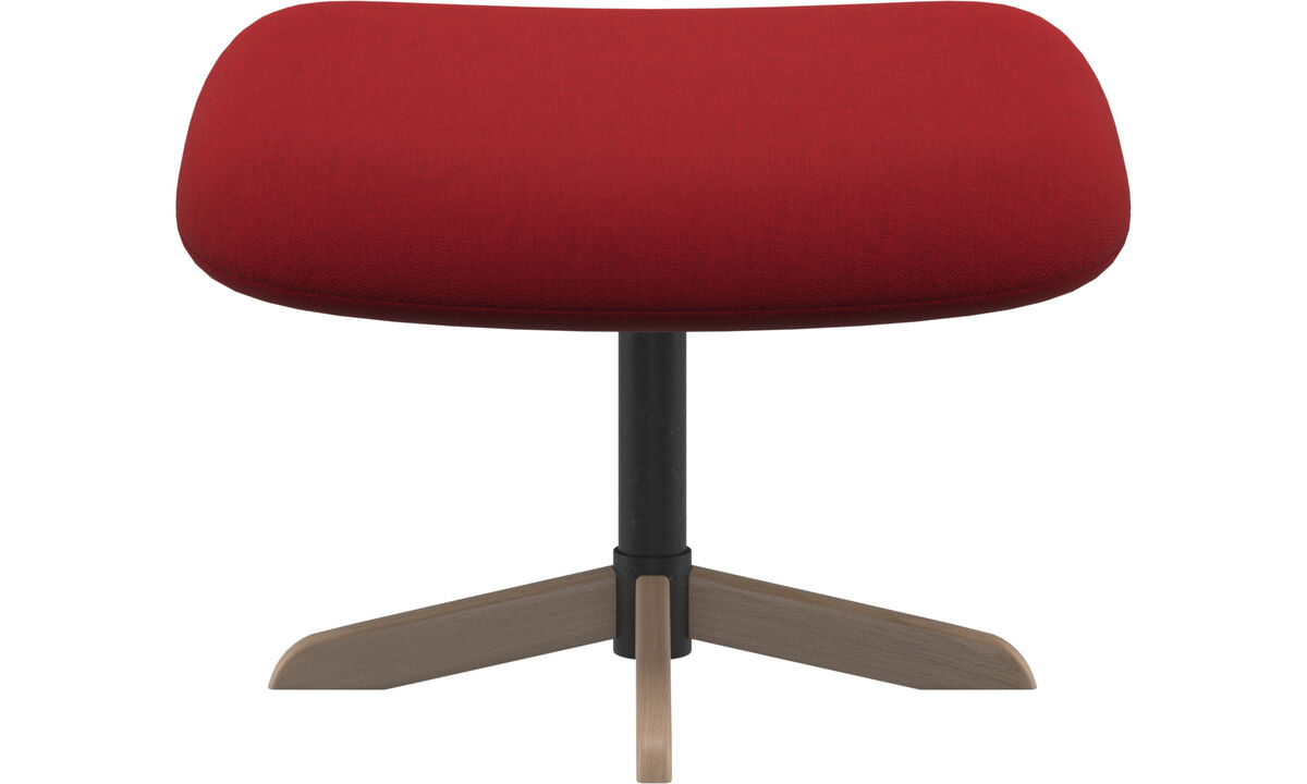 Footstools - Athena footstool - Red - Fabric