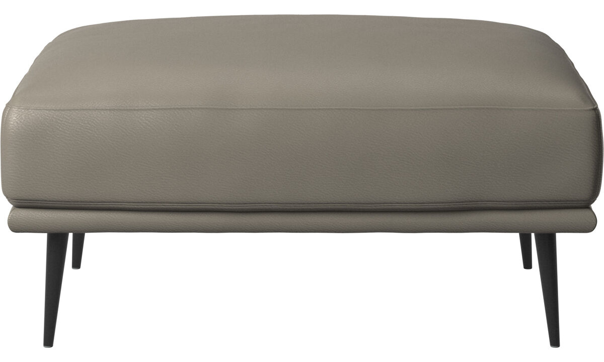 Footstools - Carlton footstool - Grey - Leather