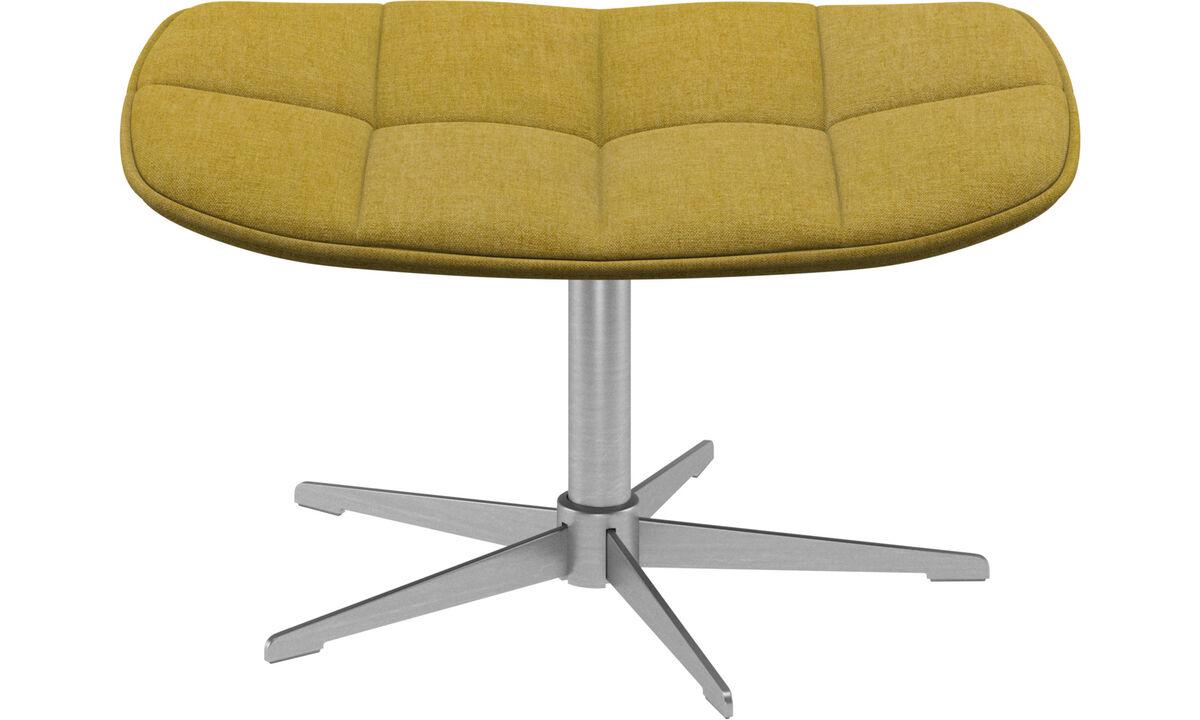 Footstools - Boston footstool - Yellow - Fabric