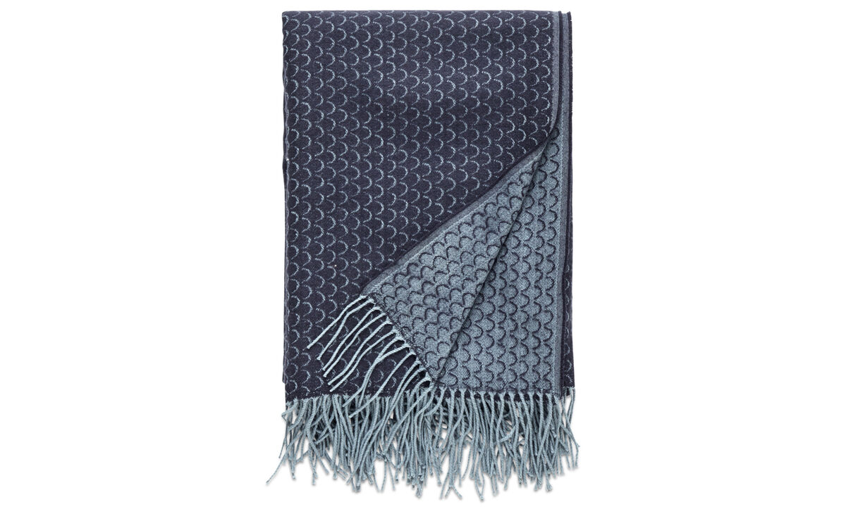 Mantas y cubrecamas - Plaid Graphic - En azul - Tela