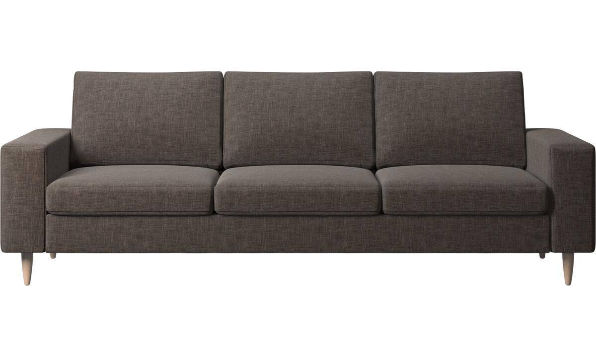 3 seater sofas - Indivi 2 sofa - Gray - Fabric
