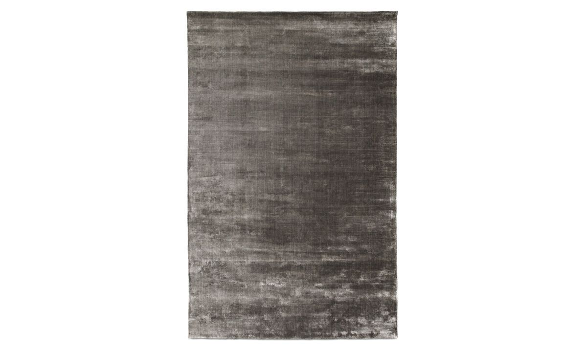 Round rugs - Waza rug - rectangular - Black - Fabric