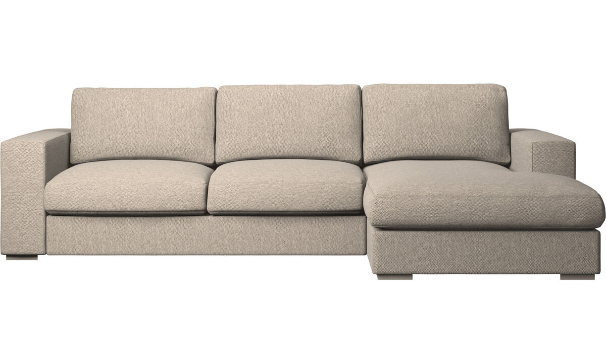 Chaise lounge sofas - Cenova sofa with resting unit - Beige - Fabric