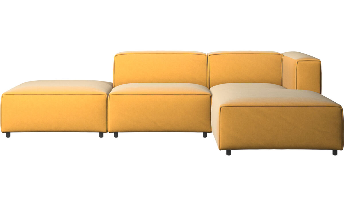 Modular sofas - Carmo sofa with resting unit - Yellow - Fabric