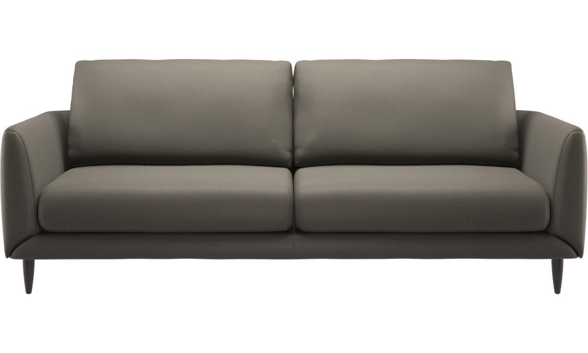 3 seater sofas - Fargo divano - Grigio - Pelle