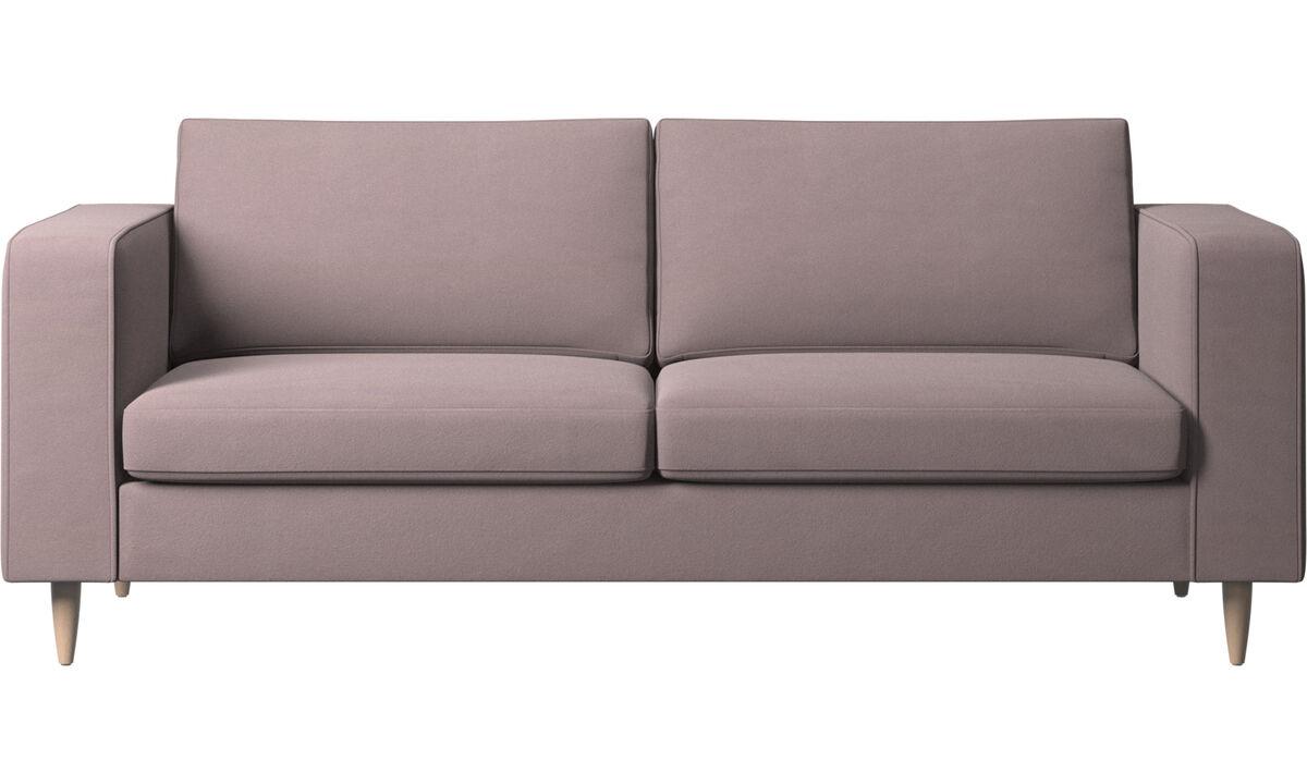Sofás de 2 plazas y media - sofá Indivi - Morado - Tela