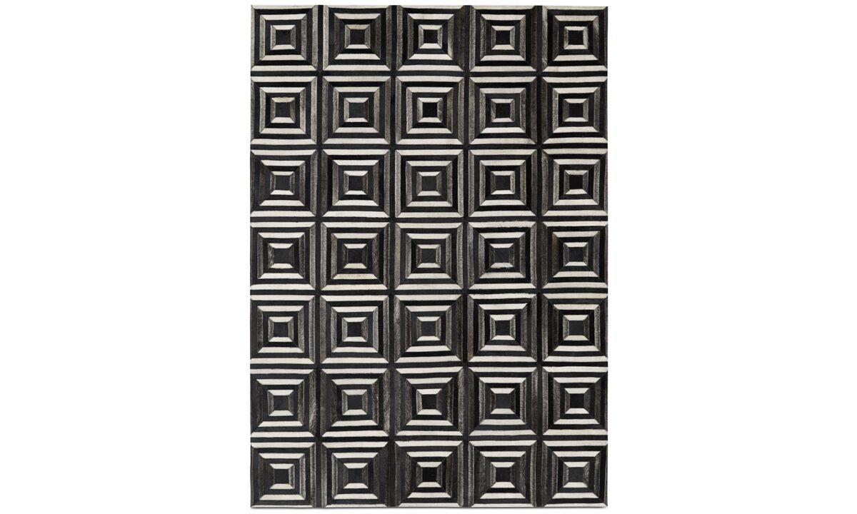 New designs - Seville Rug - rectangular - Black - Fabric