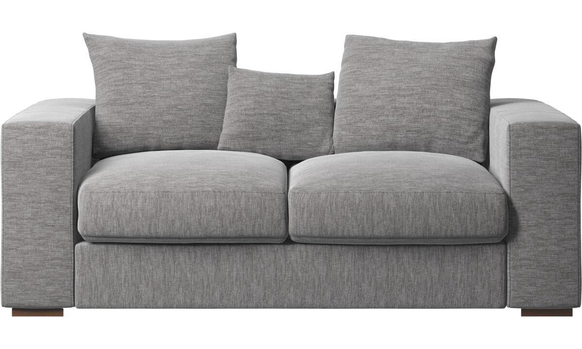 2 seater sofas - Cenova sofa - Grey - Fabric