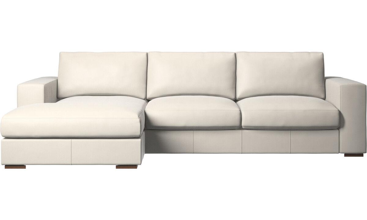 Chaise lounge sofas - Cenova sofa with resting unit - White - Leather