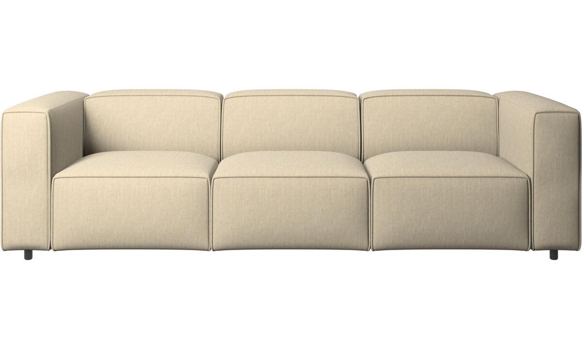 Háromszemélyes kanapék - Carmo kanapé - Barna - Huzat
