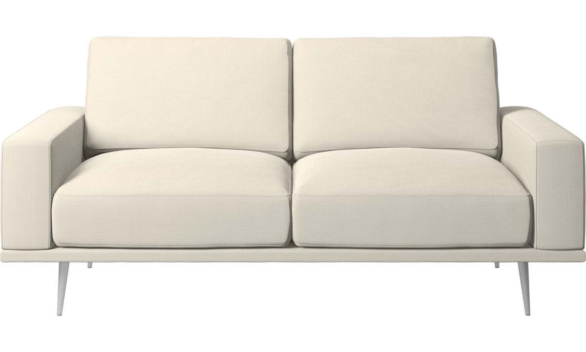2-sits soffor - Carlton soffa - Vit - Tyg