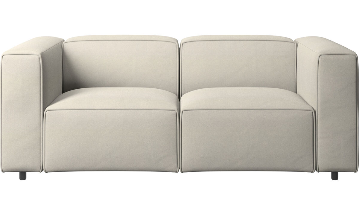 Sofás de 2 plazas - sofá Carmo - Blanco - Tela
