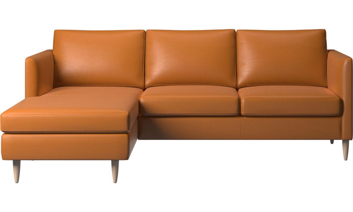 Chaise longue banken - Indivi zitbank met ligelement - Bruin - Leder