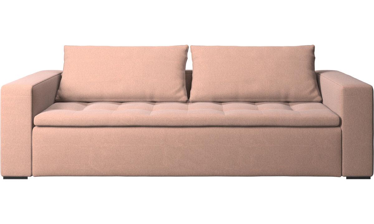 3 seater sofas - Mezzo sofa - Red - Fabric