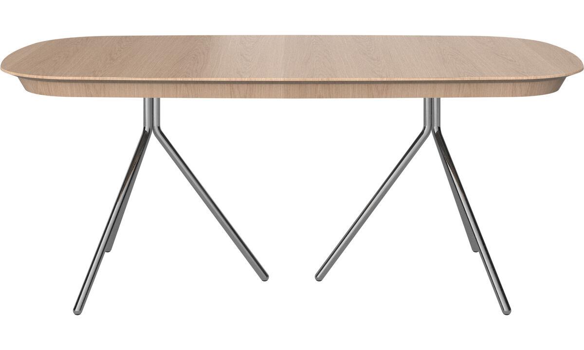 Étkezőasztalok - Ottawa asztal kiegészítő asztallappal - ovális - Barna - Tölgy