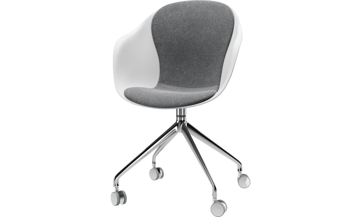 Design furniture in time for Christmas - Adelaide chair with swivel function and wheels - Grey - Fabric