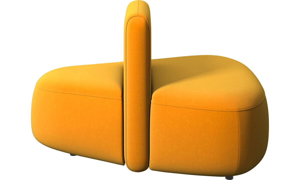 Modular sofas - Ottawa triangular pouf low back - Orange - Fabric