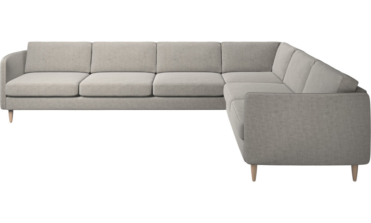 Corner sofas - Osaka corner sofa, regular seat - Gray - Fabric