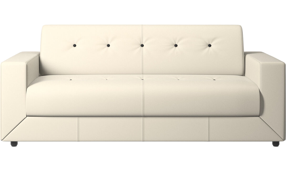 Sofa beds - Stockholm sofa bed - White - Leather