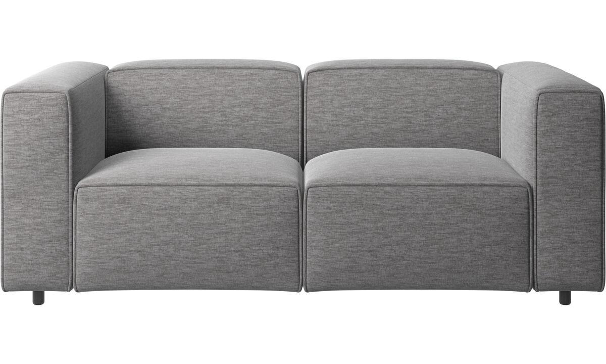 Kétszemélyes kanapék - Carmo kanapé - Szürke - Huzat