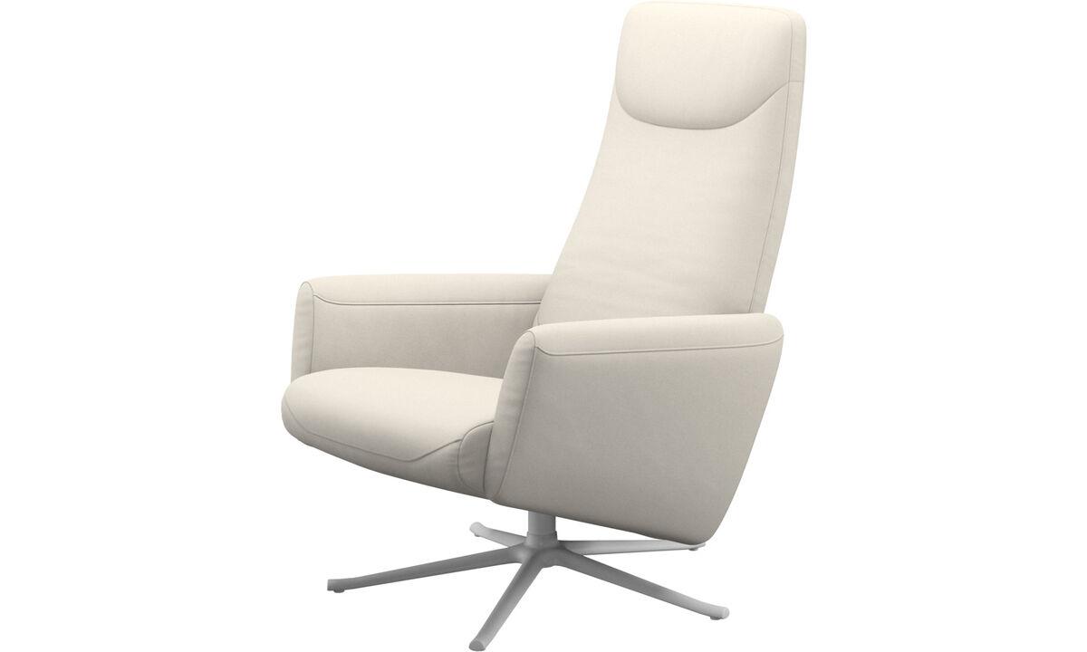Recliners - Poltrona reclinável Lucca giratória - White - Tecido