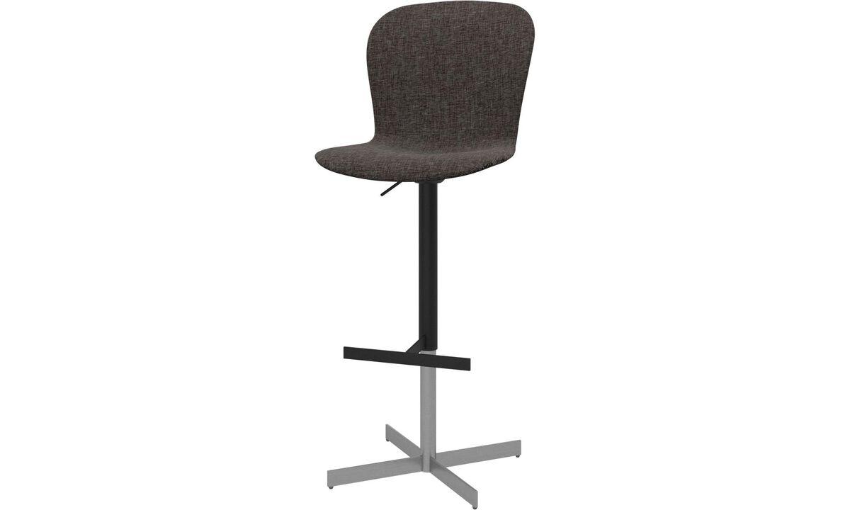 Tabourets de bar - chaise de bar ajustable Adelaide - Marron - Tissu