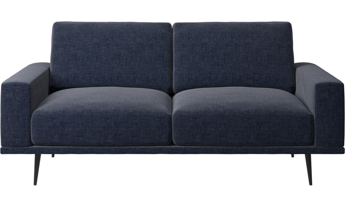 2 θέσιοι καναπέδες - Καναπές Carlton - Μπλε - Ύφασμα
