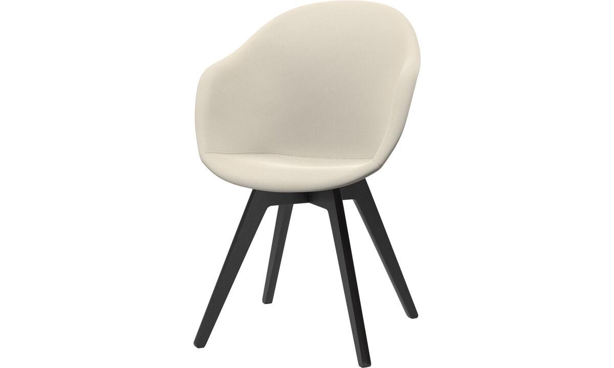 Esszimmerstühle - Adelaide Stuhl - Weiß - Stoff