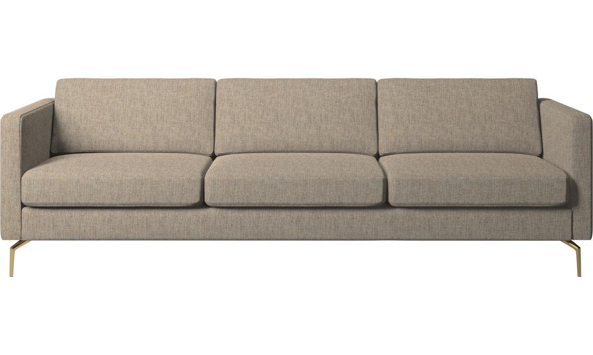 3 seater sofas - Osaka sofa, regular seat - Brown - Fabric