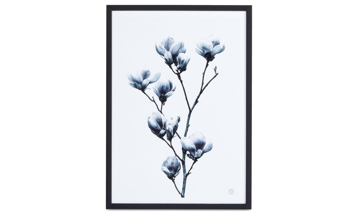 Gallery - Magnolia II art on paper - Blue - Paper