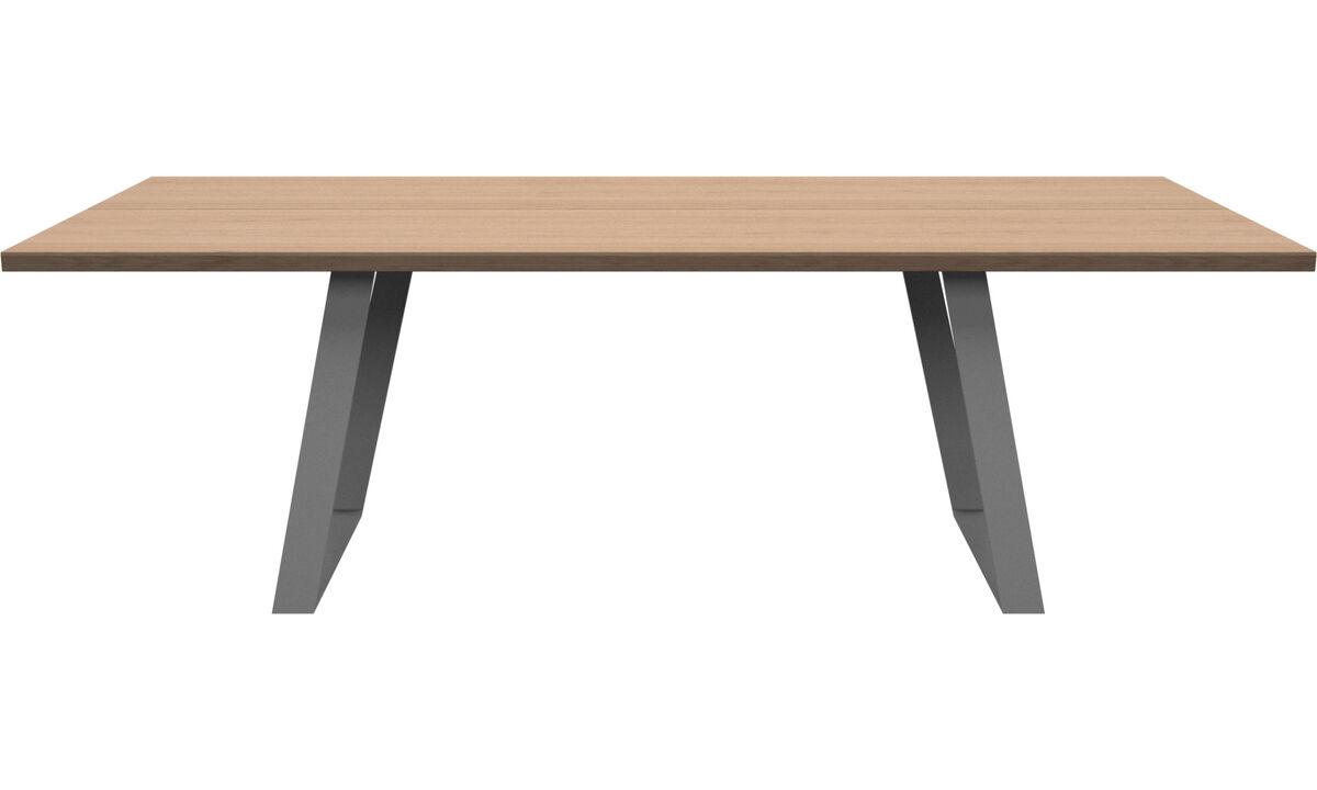 Mesas de comedor - mesa extensible con tablero Vancouver - rectangular - En marrón - Roble