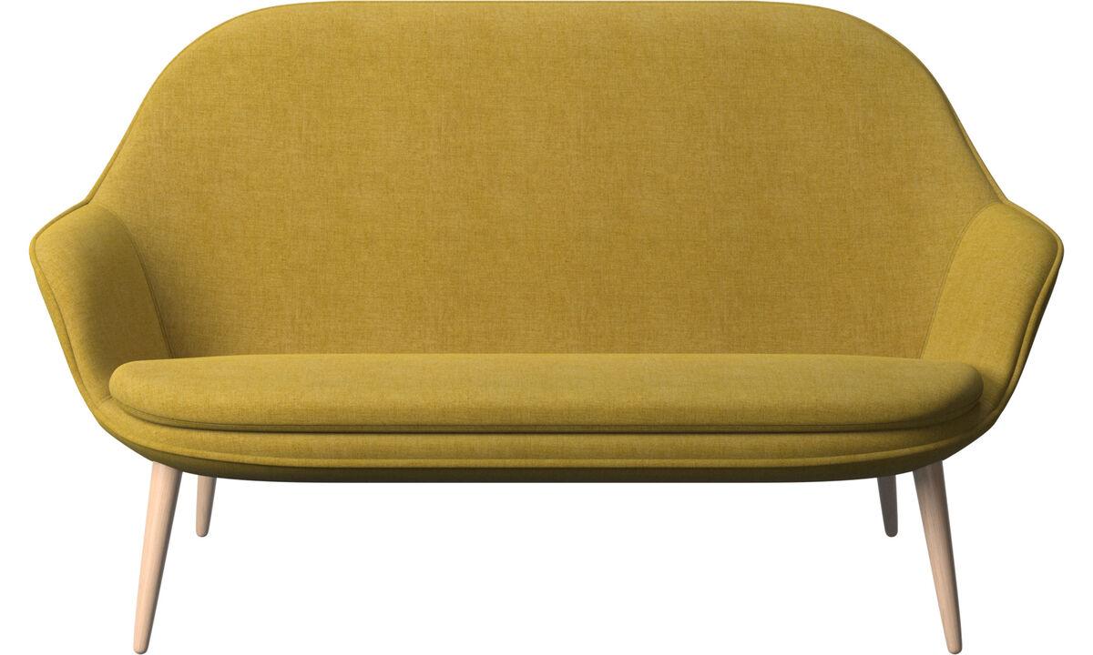 Sofás de 2 plazas - sofá Adelaide - En amarillo - Tela