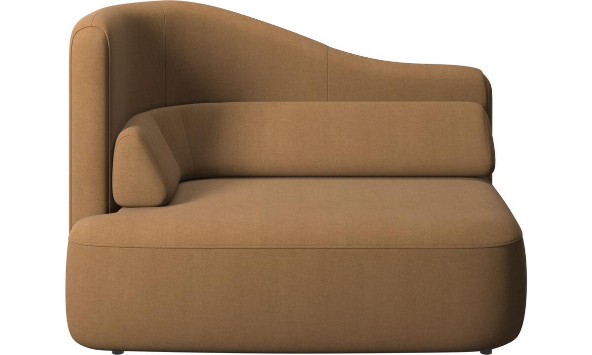 Sofás modulares - módulo Ottawa de 1.5 plazas brazo izquierdo - En marrón - Tela