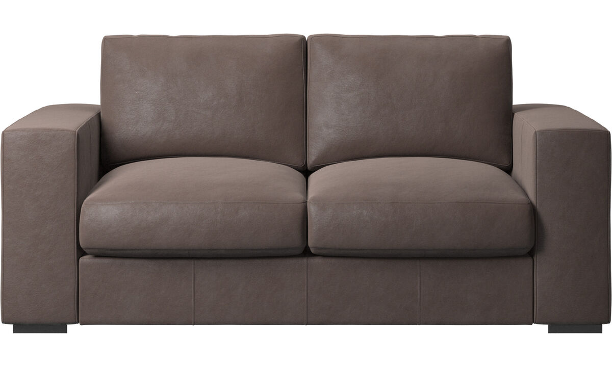 2 seater sofas - Cenova sofa - Brown - Leather