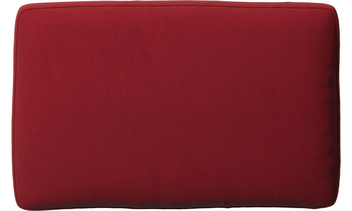 Acessórios para móveis - Almofada de encosto Amsterdam - Vermelho - Tecido