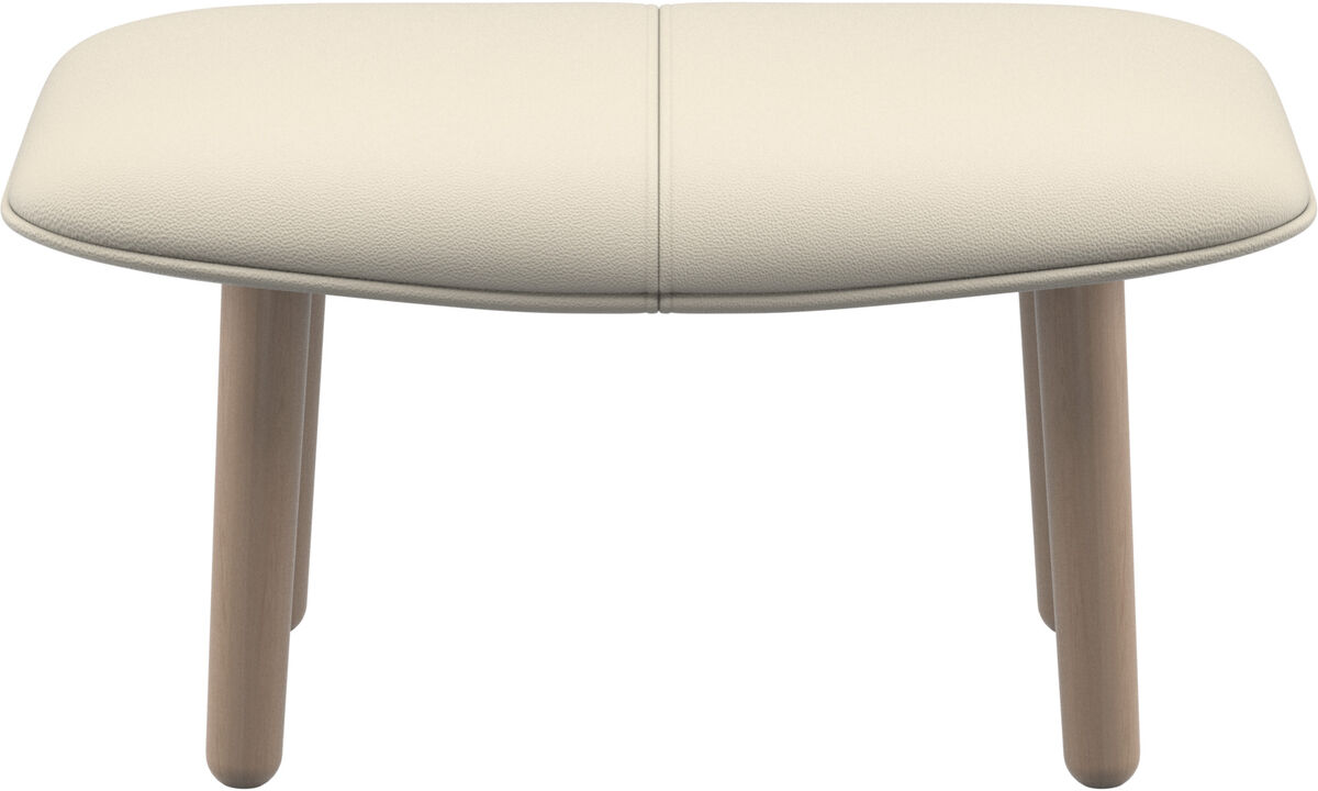 Footstools - fusion footstool - White - Leather